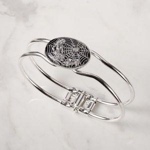 Jewelry - Arachne intaglio hinged bangle bracelet